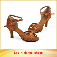 Wholesale Brand New Women s Tango Ballroom Canvas Latin Ballet Dance Shoes Salsa Shoes cm cm Heeled