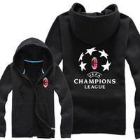 ac hoodie - NEW Fashion European cup AC milan autumn and winter thicken outerwear men s top casual hoodies zipper sweatshirt cardigan