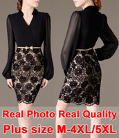 high end clothing - High end Lace Chiffon Dress Brand Quality Belt Plus Size XXXXL XL Vestidos Vintage Bandage Casual Dress Fashion Women Clothing