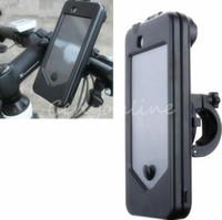 bicycle bag holder - New High Quality ABS Bicycle Motor Bike Motorcycle Handle Bar Holder Waterproof Case Bag EVA Foam pad For iPhone S C