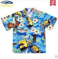 beach blouse - New Children Hawaiian Beach Shirt Boys And Girls Casual Cotton Brand New Floral Summer Shirt Kids Short Sleeved Blouse S909
