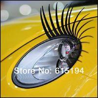 automotive lighting logo - 1pair D Eyelash Car Eye Lashes D Car Logo Sticker D Automotive Eyelashes Auto Lights Lashes