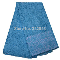 fabric for wedding dress lace - 2014 Graceful blue lace fabric for ladies tops evening dress beautiful wedding lace fabrics