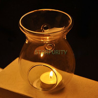 oil warmer - in1 Glass Stand Hanging Candlestick Tealight Candle Holder Scented Oil Warmer Burner Stove Dinner Wedding Table Decoration