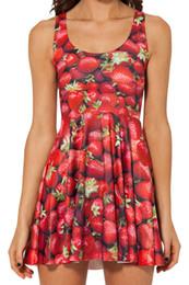 Wholesale-Women Summer DressBlack Milk Strawberry Skater Dress for Women 2015 Fashion Women's Black Milk Dresses