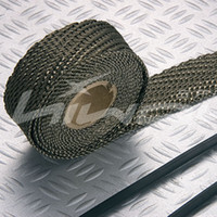 Cheap Wholesale-titanium turbo wrap,Exhaust Wrap,Header Wrap,2''*50'(include 5 FREE 304 stainless steel zip ties)