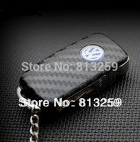 auto transmission covers - VW Golf6 Tiguan Polo Sagitar Carbon Fiber Key Chain Protective Cover Sticker Gift Golf6 auto transmission middle Sticker