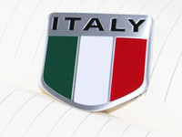 alfa flag - Italy flag Emblems Badge Motor Sport Racing Sticker Rear For Alfa romeo fiat lamborghini High Quality