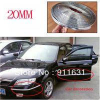aluminum trim molding - 20mm X meters Roll Car Sticker Car Aluminum Stickers Car CHROME TRIM MOLDING STRIP GRILL INTERIOR EXTERIOR CAR STYLING