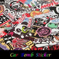 vinyl wrap - quot x quot JDM Panda CARTOON GRAFFITI Car Sticker BOMB WRAP SHEET DECAL STICKER