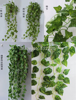 green leaves - Pack of styles green foilage artificial silk Ivy leaves wedding garlands crafts