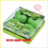 apple ideas - mounted green apple candle Various anti true fruits of candles Eve festive gift ideas wax home decor decoration