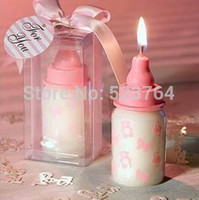 baby bottle favours - Baby Bottle Candle Favour Pink