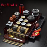 Wholesale Porcelain Hot Sale Promotion Pigmented Arenaceous Wine Transparent Drinkware Teapot Tea Set Yixing Kung Fu Solid Tray