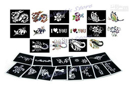 Wholesale sheets Tattoo Stencils for Body art Temporary Glitter Tattoo Kit Mixed designs