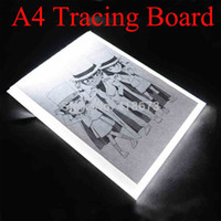 Wholesale A4 Size Ultra thin USB Power Tattoo LED Light Box Stencil Tracing Table Tracer LightPad Light Desk Lightbox Makes Tracing Easy