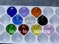 Wholesale mm Chandelier Crystal ball Mixed color Faceted Ball Prism Suncatcher Feng Shui