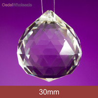 clear glass ornaments - pieces mm Clear Faceted Crystal Ball Chandelier Crystal Prisms Glass Suncathcher Pendant Fengshui Decoration Ornament