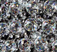 Wholesale mm crystal faceted prism balls glass chandelier lighting pendant parts