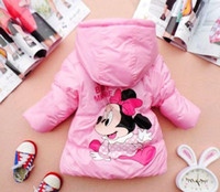 Wholesale Sale Minne mouse Jacket pc Children clothing years Kids clothes Winter coat
