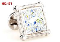 Wholesale FREE SHIP Fashion high quality Copper Steel Brand New cufflinks mens shirt cufflinks French cuff links for men cf163940