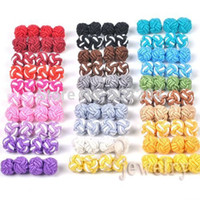 Cheap Wholesale-Hot Sale Chinese Silk Knot Cufflinks Button Pefect for Shirts 42 Colors Wholesale Men made silk hand Knots cufflinks button