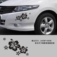 big random words - UG_ Big Size Random flower applique car stickers garland decoration stickers reflective car sticker x16cm Car Styling