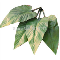 Cheap Wholesale-New Year Stamen 60pc Party 20cm Wedding Home Decor Fabric Artificial Calla Flower Leaves Plant Tree Branches Foliage Bonsai F123