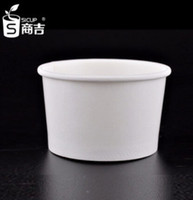 ice cream paper cup - OZ disposable white color ice cream paper cups