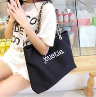 handbags in japan - new canvas shoulder bag big metal chain in Japan casual handbag chain handbag factory outlets