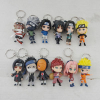 Wholesale Promotional New Design Exquisite Craft PVC Anime Naruto Action Figure Key Chain Full Set Boys Girls Gift