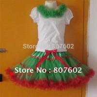 Spring / Autumn pettiskirt set - dancing T shirt pettiskirt set Christmas T shirt and pettiskirt set