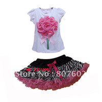 pettiskirt set - rose pink top zebra pettiskirt set fashion zebra pettiskirt set