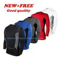 Men base layer shorts - New Men Tights Skins Compression shirt mens walmart Base Layer Long Sleeve T Shirt Tops Shirts Bodybuilding Fitness Sports T shirtsl