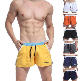 2015 New Mens Sport Shorts Cotton Mens Sports Shorts Trunk Brand Casual Summer Fitness gym men workout Running Yoga Shorts Trunk