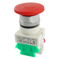 Push Button Switches   660V 10A 40mm Red Sign Mushroom Momentary Push Button Switch 1 NO N O 1 NC N C