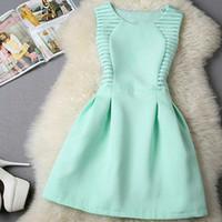 Wholesale new fashion women o neck sleeveless casual mini dress Elegant Short Evening Party Dresses