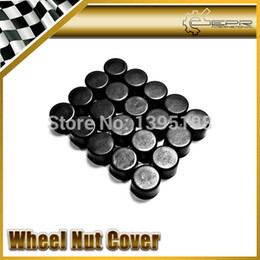 Wholesale-Hottest Car Styling Free Shipping 20pcs Silica Gel Black Wheel Nuts Covers Protective Bolt Caps Hub Screw Protector 17# 19# 21#