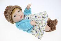 Cheap silicone reborn baby dolls Life-like Reborn Baby Girl Doll 10 inch Handmade baby born toy