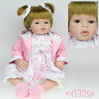 Cheap soft silicone vinyl doll reborn toddler 28 inches Reborn Baby Girl ARIANNA reborn toddler lifelike baby dolls kids gift