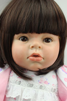 Cheap Reborn Baby Girl Doll ARIANNA Reborn Toddler Soft Lifelike Silicone Vinyl Baby Dolls Kids Great Gift