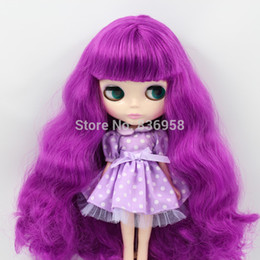 Wholesale-Purple Color Hair Normal Skin Nude Blythe Doll Suitable For DIY Change BJD Toy For Girls