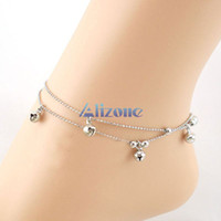 ankle bracelets bells - Silver Bells Plated Chain Anklet Ankle Bracelet Foot Jewelry Barefoot Sandal Beach Anklets