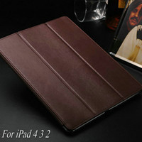 best protection ipad - Vintage Pattern Magnetic with Stand Leather Case for iPad New Smart Cover for iPad4 Best Microfibre Protection Inside