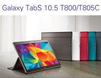 Wholesale Original Business Case for Samsung Galaxy Tab S T800 T805 Business Stand Tablet Leather Case Cover get gift