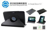 Gros-360 Rotating Degré CUIR Housse Pour Google Nexus 10 10.1