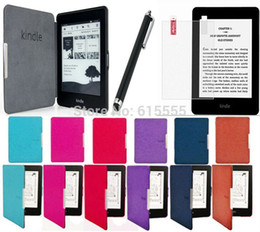 Wholesale Origin kindle paperwhite case cover set screen protector stylus touch pen for gift colors