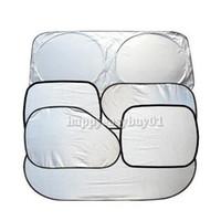 Wholesale Folding Silvering Reflective Car Sun Shade Car Window Sunshade Cover Visor Shield E1IT
