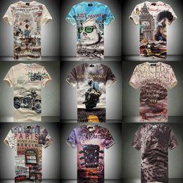 Wholesale Top Tee Punk motorcycle d men s t shirts famous Brand men tshirt v neck compression casual mens t shirt man clothing