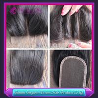 Cheap virgin hair lace top closure Best middle part lace closure